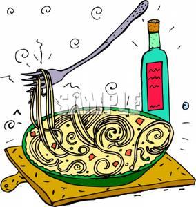 284x300 Images Italian Dinner Clip Art