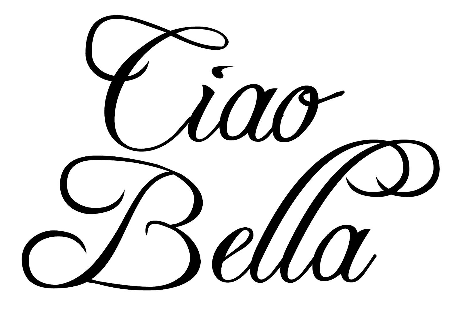 1600x1101 Ciao Bella Word Italian Clipart