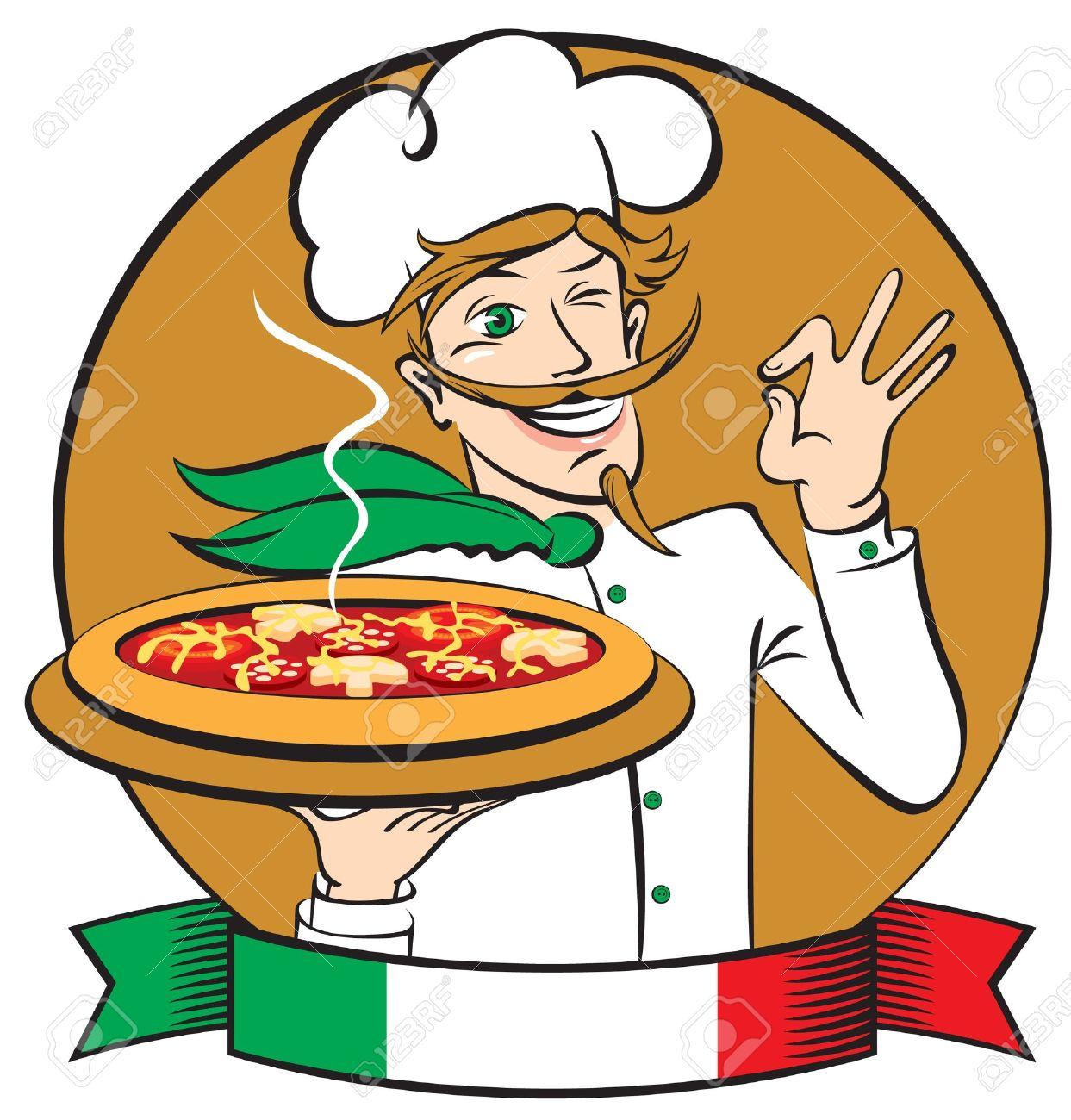 1243x1300 Italian Chef Clipart