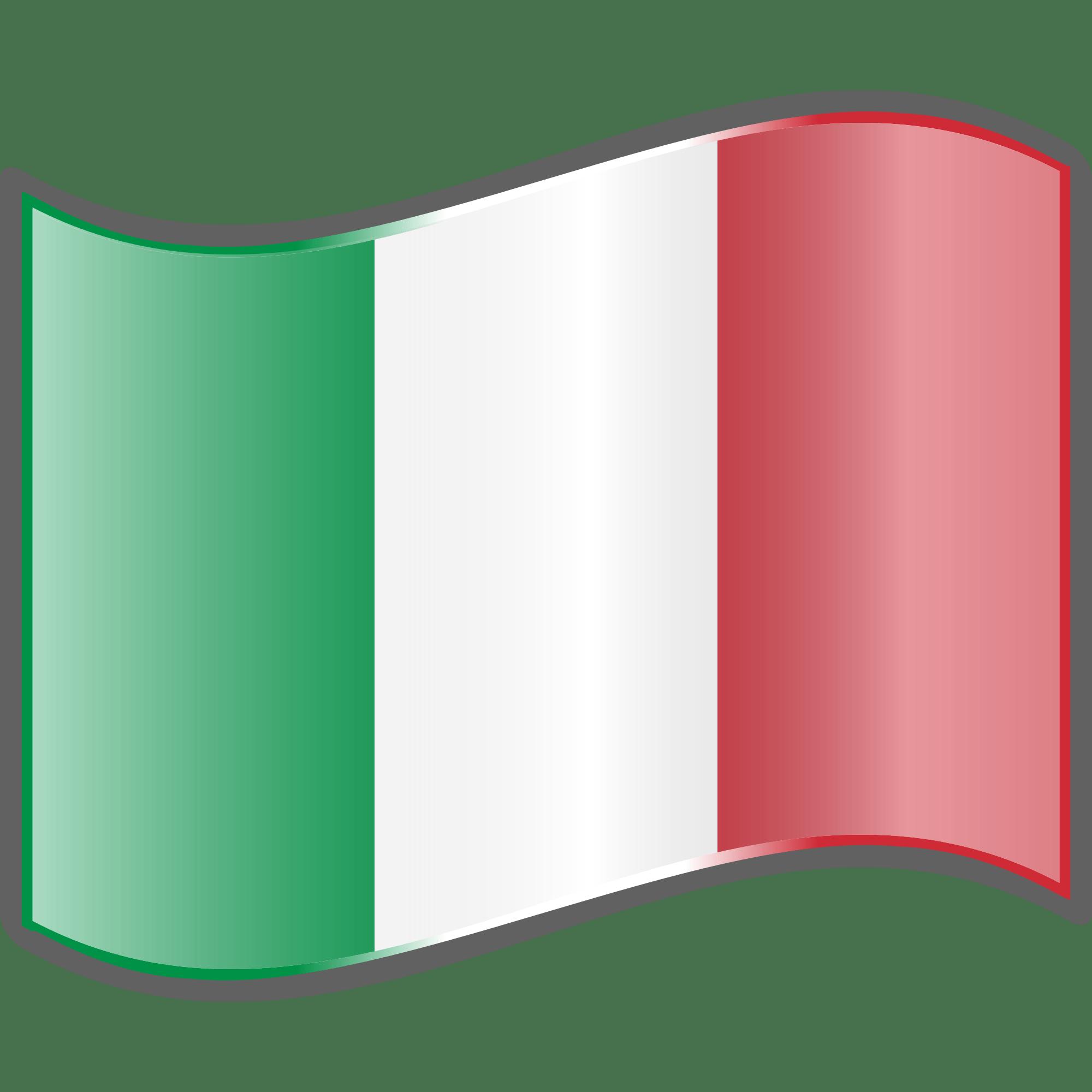 2000x2000 Italian Flag Wave Transparent Clipart