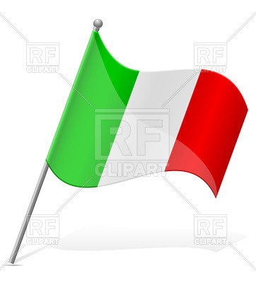 362x400 Italian Wavy Flag Icon Royalty Free Vector Clip Art Image