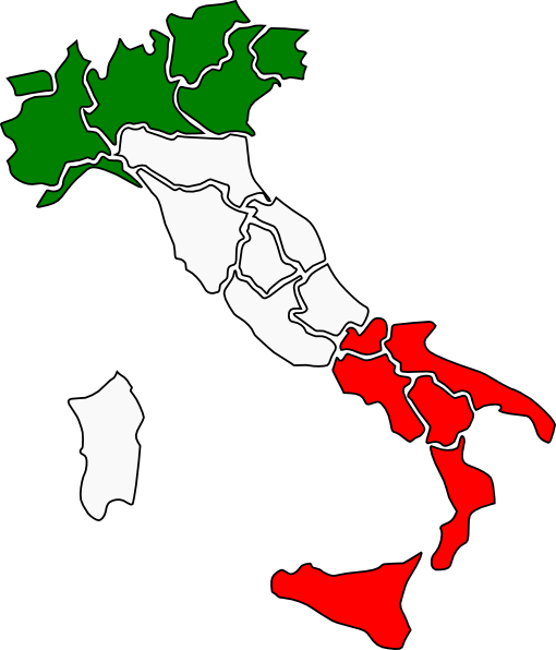 510x596 Map Of Italy Clip Art