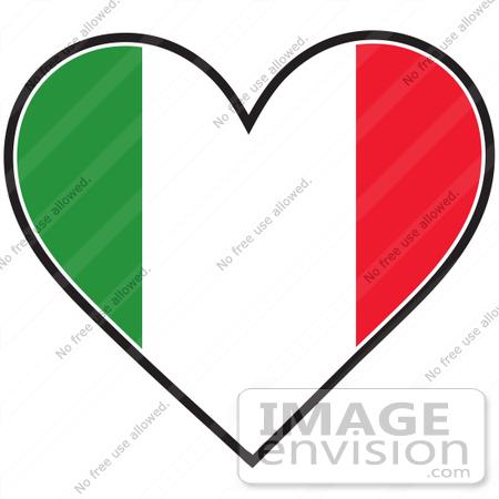 450x450 Clip Art Graphic Of An Italian Heart Flag