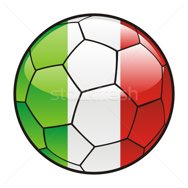 600x600 Italy Flag On Soccer Ball Vector Illustration Daniel Ivascu