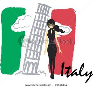 300x279 Art Image A Black Haired Woman In Front The Leaning Tower