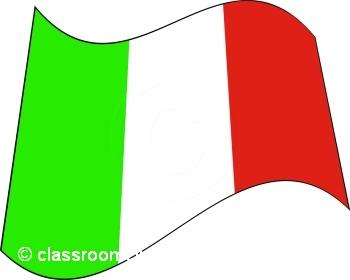 350x280 Clipart Flag Italian