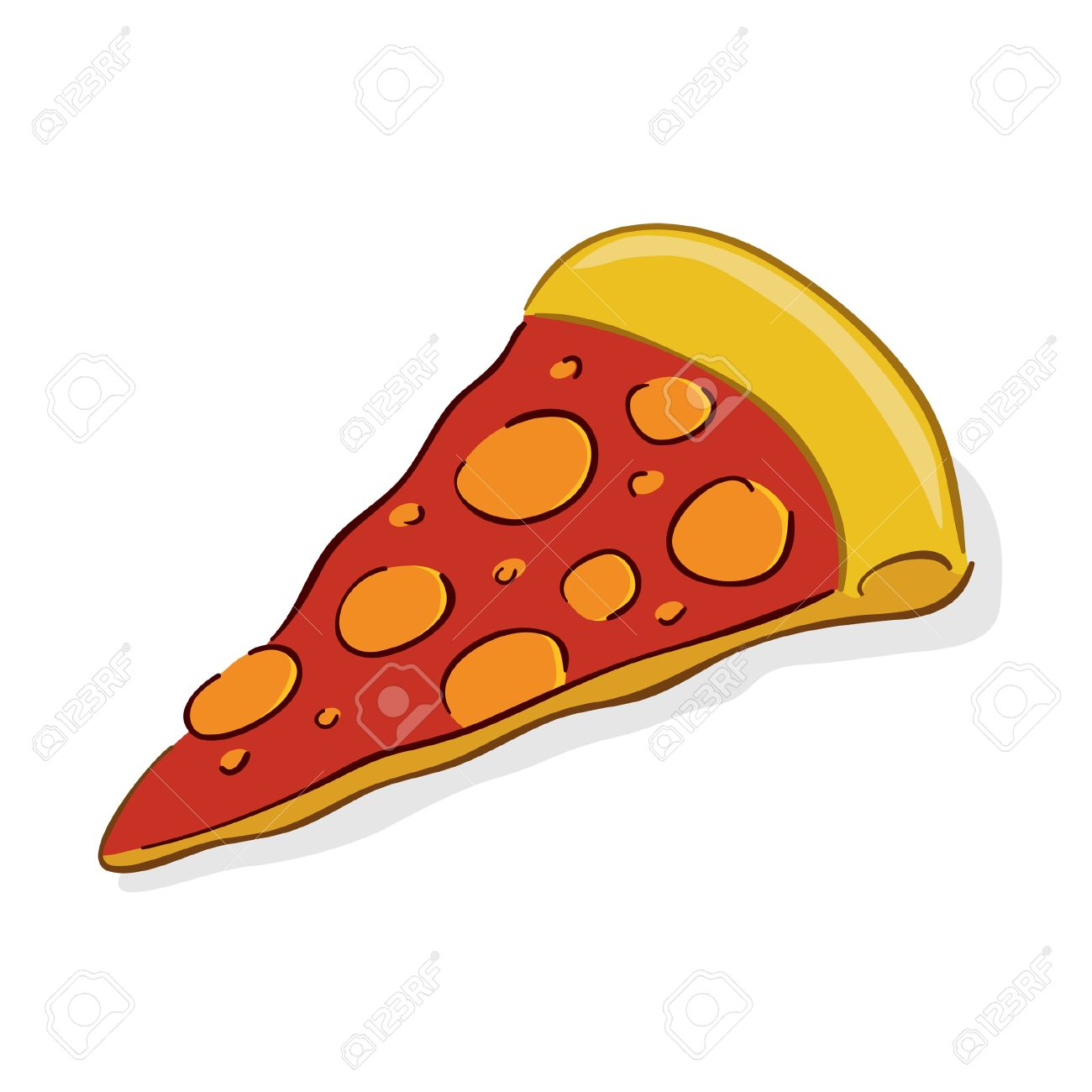 1300x1300 Illustration Of A Slice Of Italian Pizza Royalty Free Cliparts