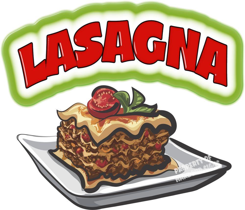 1000x857 Lasagna Decal 14 Concession Restaurant Italian Food Truck Menu