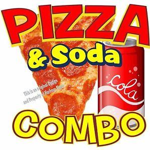 299x300 Pizza Soda Combo Decal 7 Italian Restaurant Concession Food Truck