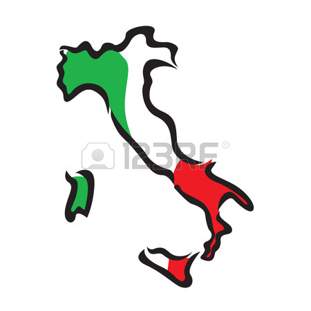 450x450 Black Outline Of Italy Map Royalty Free Cliparts, Vectors, And