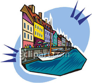 300x273 Canal In Venice, Italy Royalty Free Clipart Picture