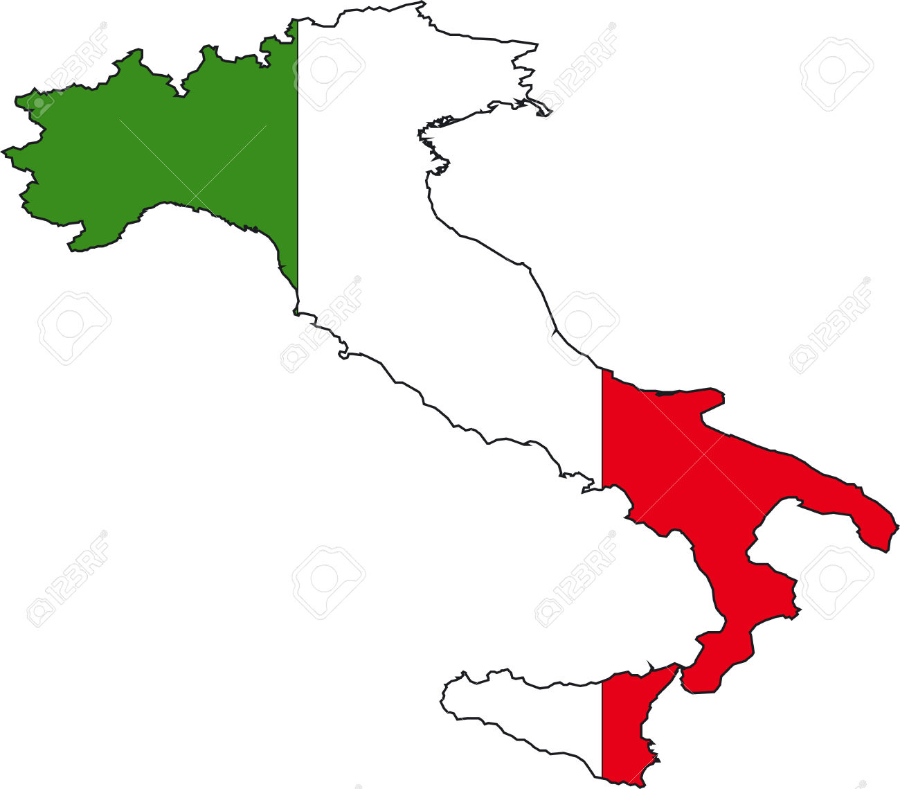 1300x1139 Italy Vector Map