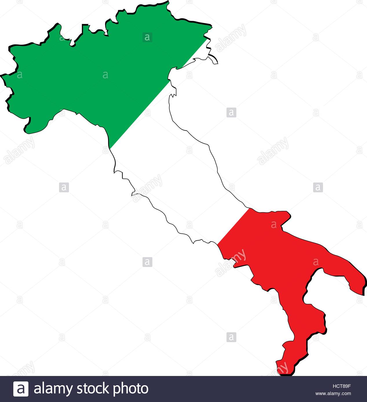 1267x1390 High Resolution Italy Map With Country Flag. Flag Of The Italy