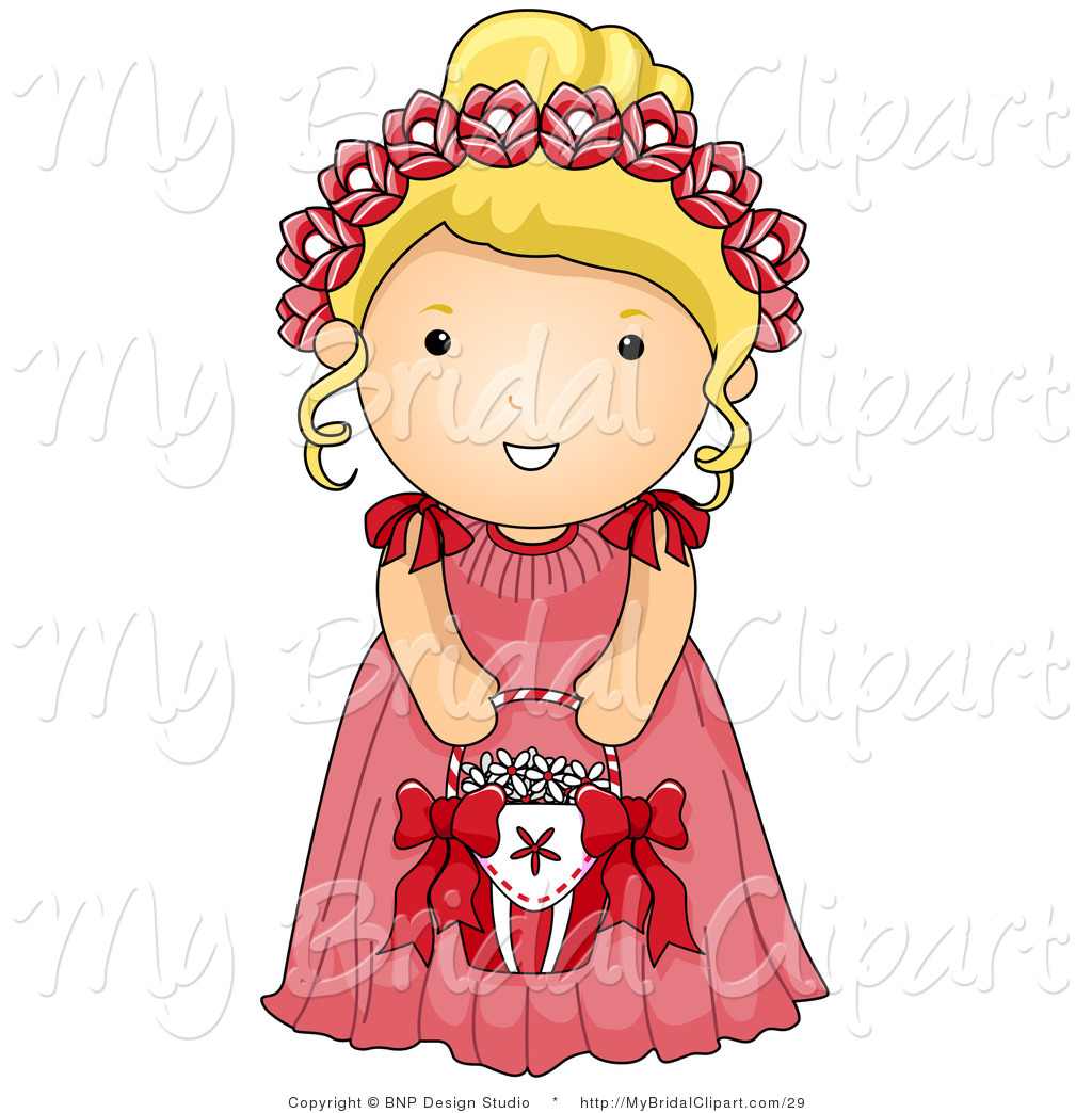 1024x1044 Bridal Clipart Of A Flower Girl In A Pink Dress By Bnp Design