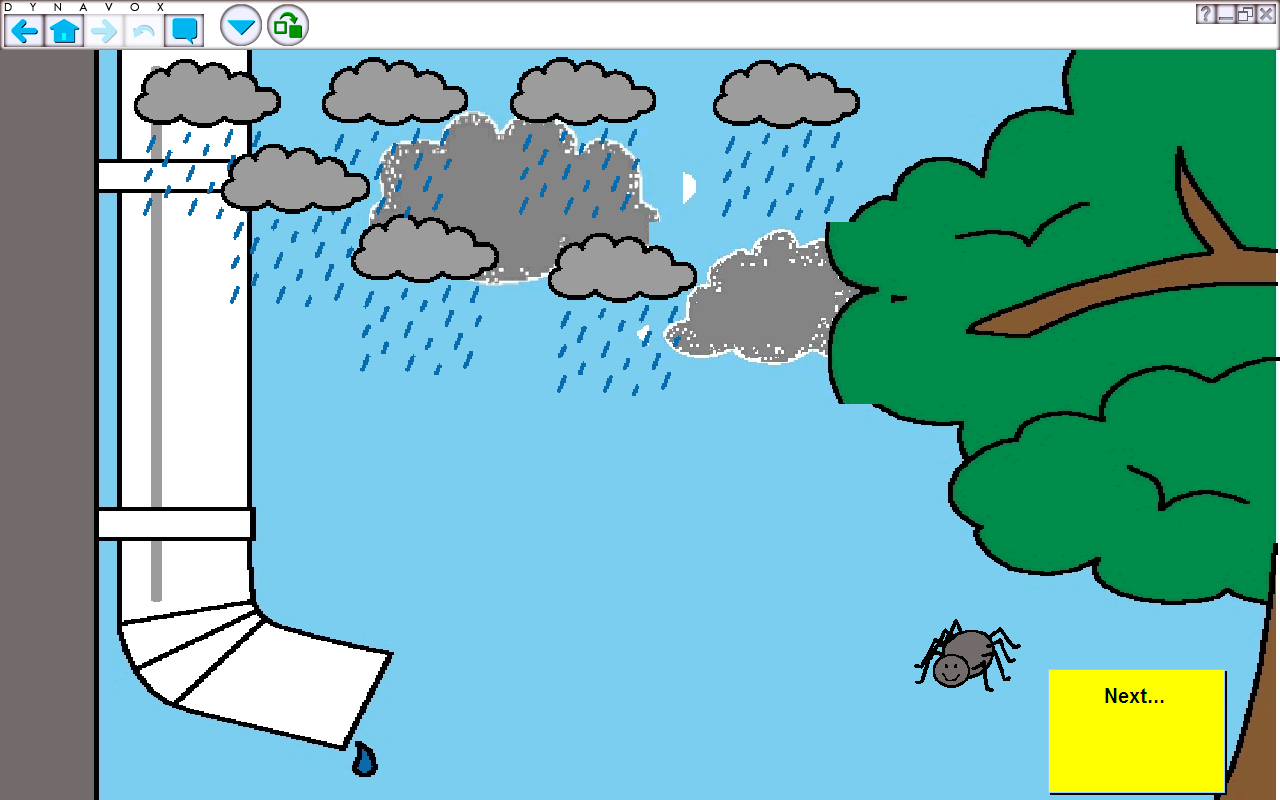 1280x800 Itsy Bitsy Spider Water Spout Clipart