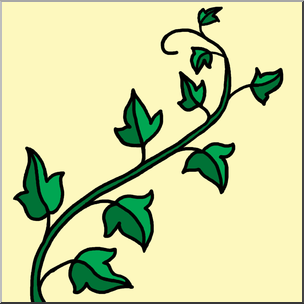 304x304 Clip Art Ivy Color 2 I Abcteach