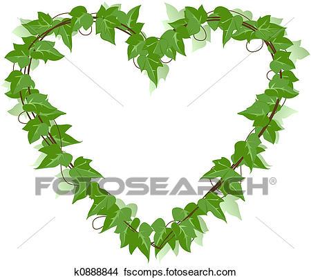 450x403 Drawings Of Ivy Leaf Heart K0888844