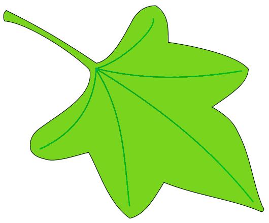 530x439 Green Ivy Leaf Clip Art