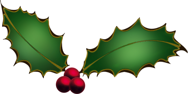 653x329 Holly And Ivy Clipart