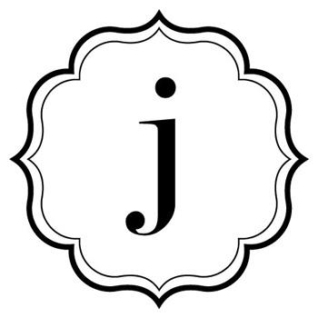 350x350 J Monogram Clipart