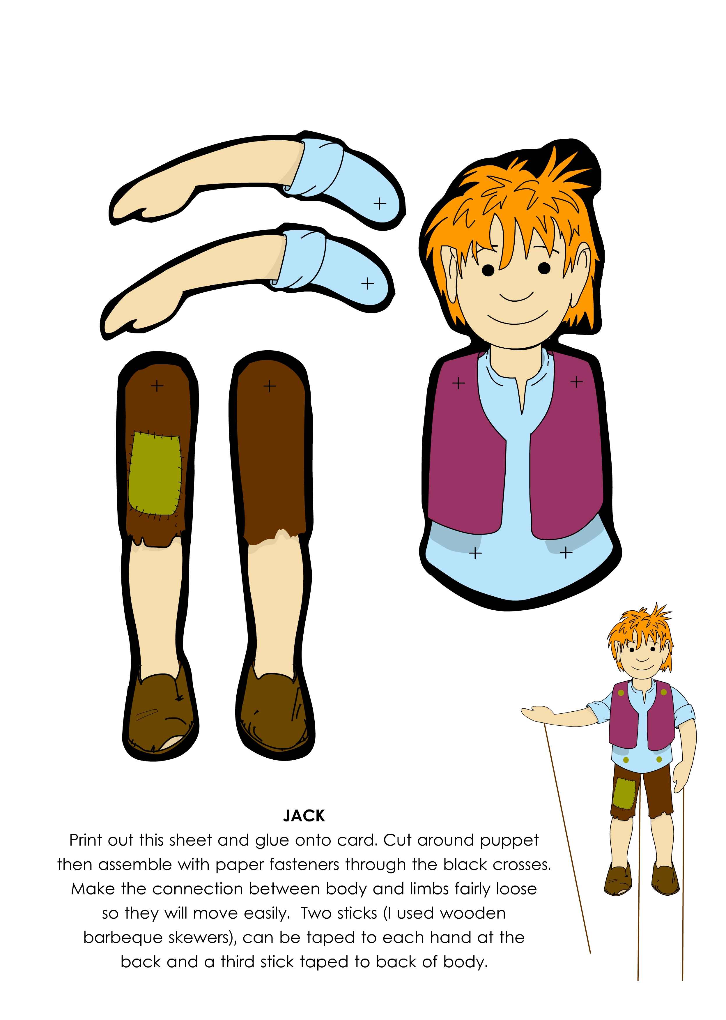 2494x3503 Jack Puppet From Jack And The Beanstalk From Littleredlanguages.co