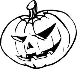 257x230 Free Black And White Jack O Lantern Clipart