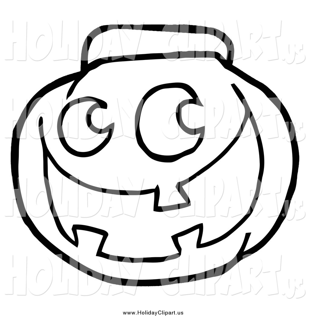 1024x1044 Holiday Clip Art Of A Black And White Happy Jack O Lantern Pumpkin