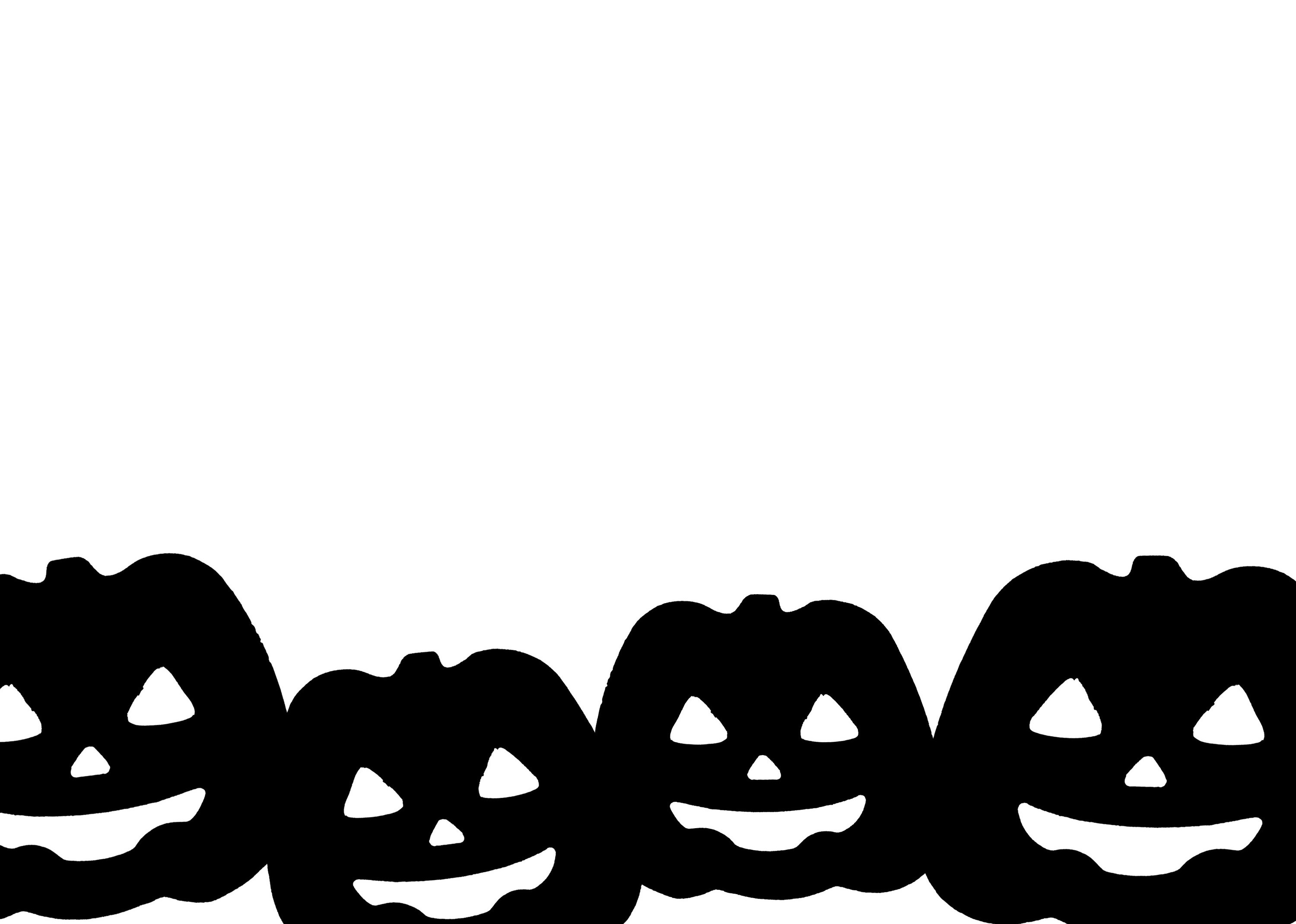 3000x2140 Image Of Jack O Lantern Border Creepyhalloweenimages
