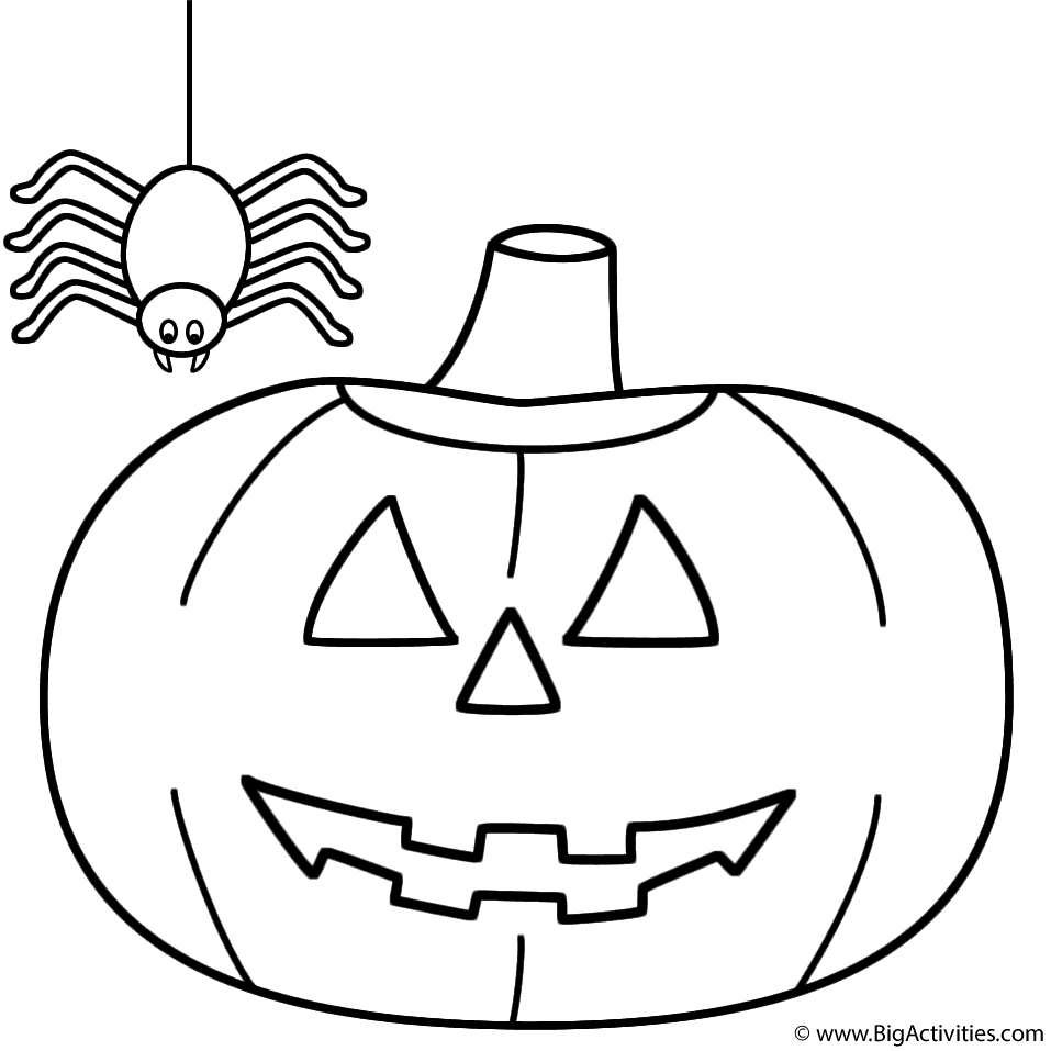 957x957 Pumpkinjack O Lantern With Spider