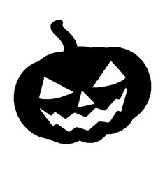236x245 Pumpkin Face Halloween Decoration Jack O Lantern Silhouette Set