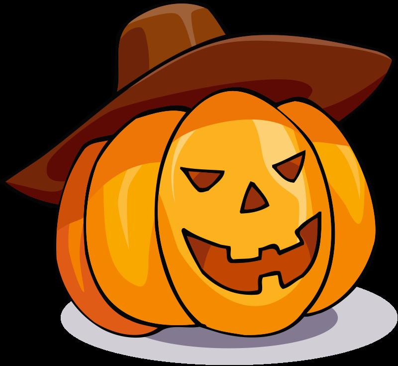 800x735 Free Happy Jack O' Lantern With Hat Clip Art