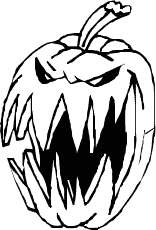 156x230 Evil Jack o lantern Clipart