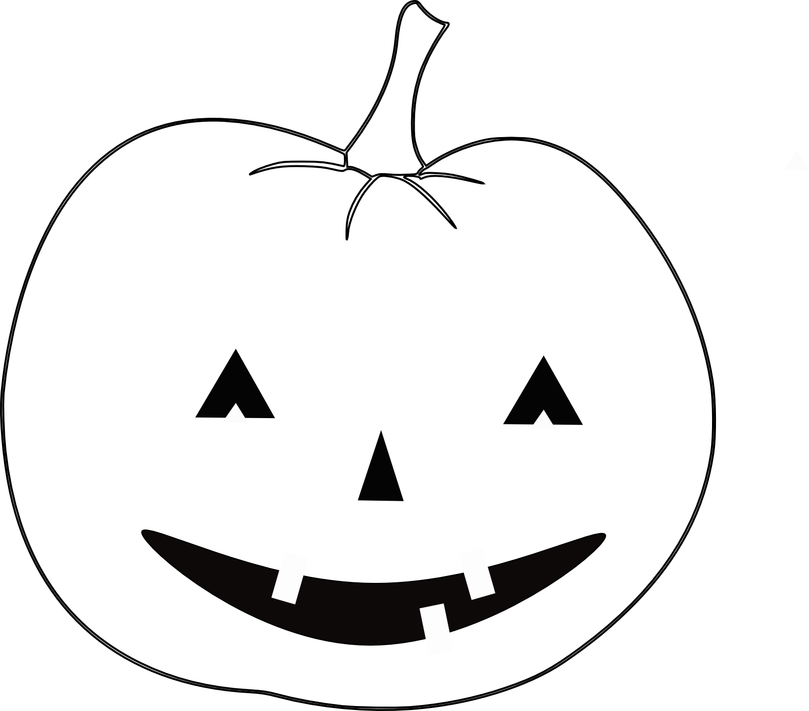 1635x1437 Free Halloween Outline Clip Art