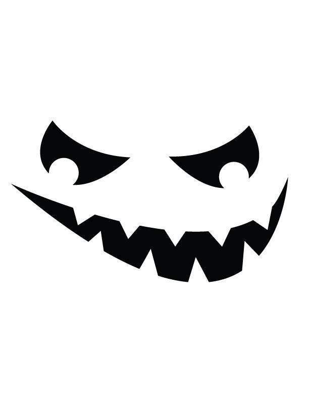 612x792 Jack'O'Lantern Face