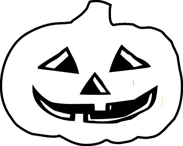 600x477 Jack O Lantern Bampw Clip Art