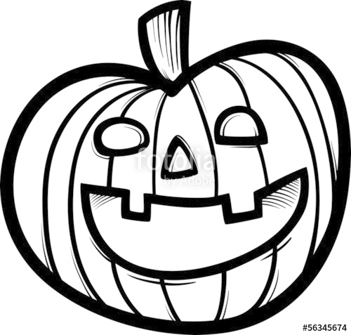 Jack O Lantern Clipart Black And White