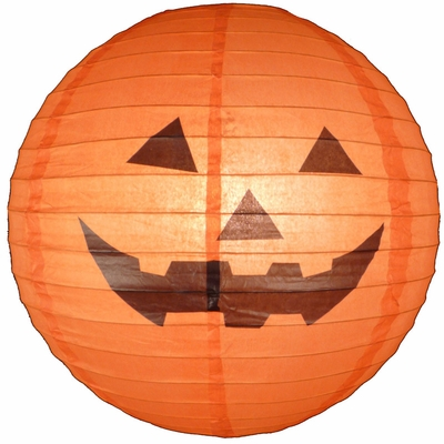 400x400 16 Happy Jack O Lantern Halloween Paper Lantern