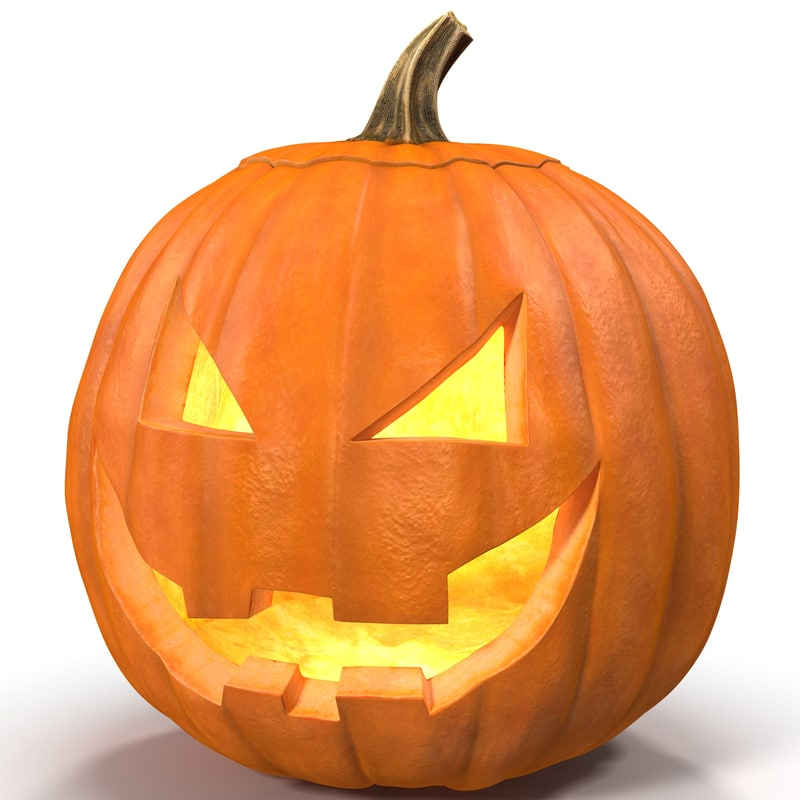 800x800 Jack O Lantern 3d Models For Download Turbosquid