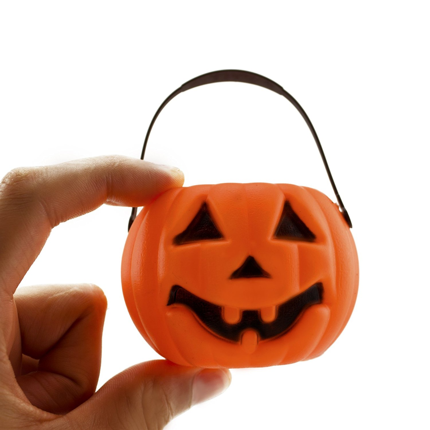 1500x1500 Mini Plastic Jack O Lantern Halloween Pumpkin Party Candy Buckets