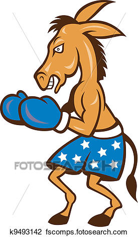 275x470 Clipart Of Donkey Jackass Boxing Stance K9493142