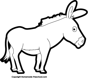 365x326 Mule Clipart Black And White