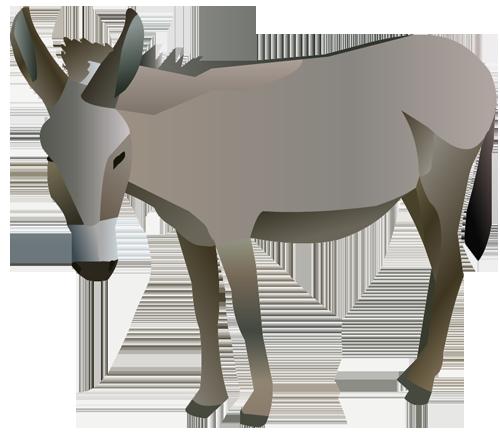 500x432 Best Donkey Clipart