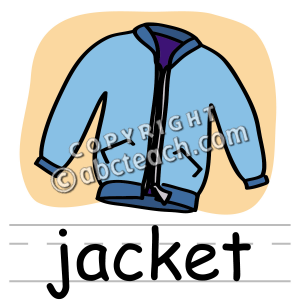 300x300 Clip Art Basic Words Jacket Clipart Panda