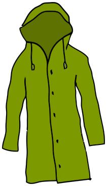 211x367 Rain Jacket Clipart
