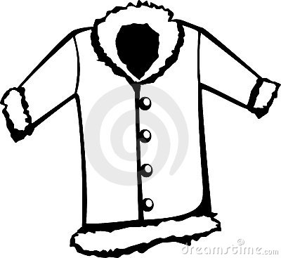 400x367 Clip Art Black And White Jacket Clipart