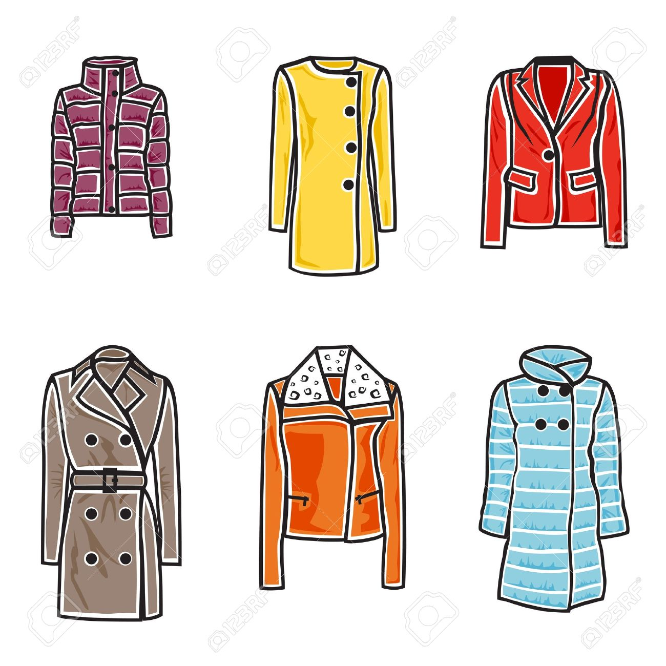 1300x1300 Fur Clipart Winter Jacket
