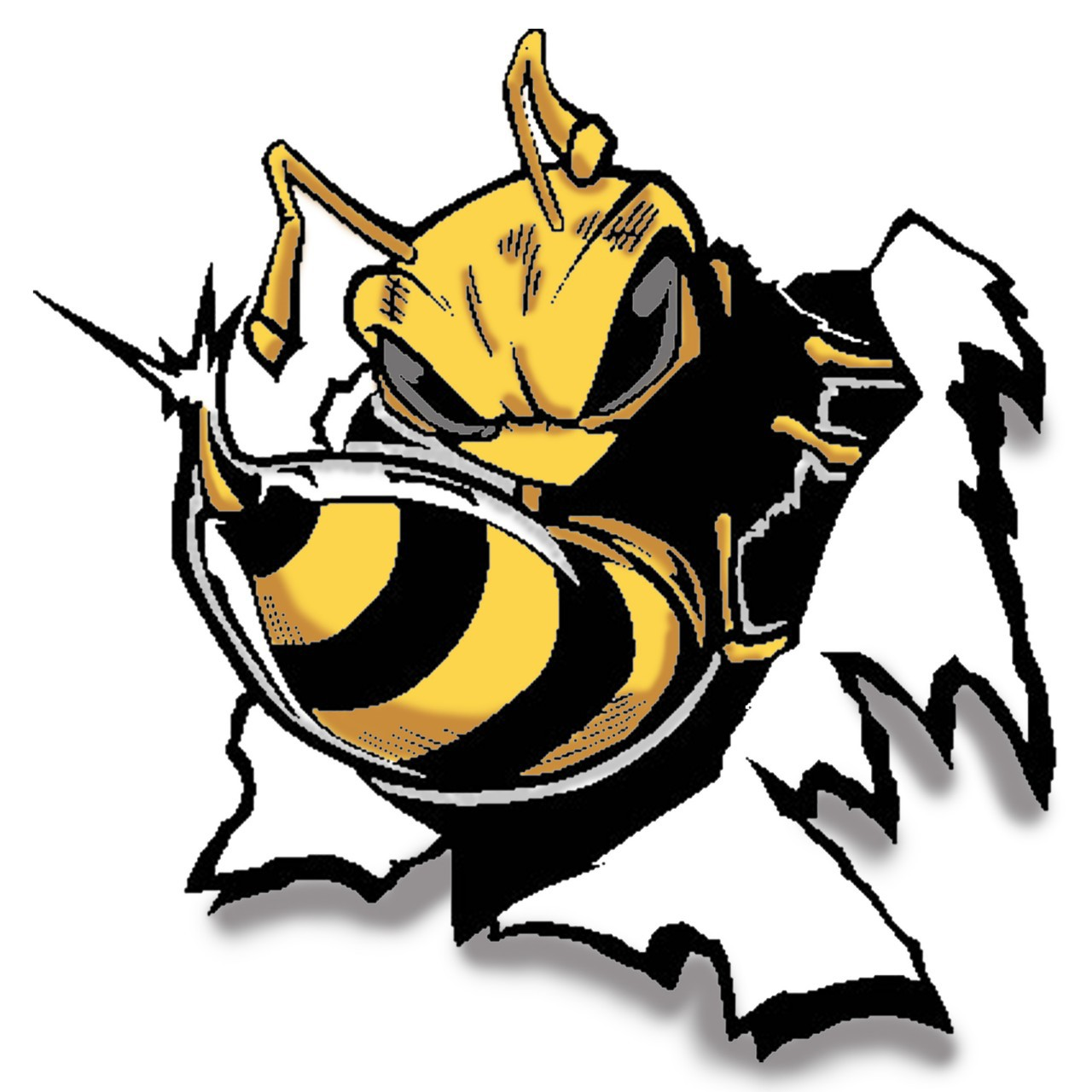1280x1280 Clipart Of A Mascot Yellowjacket