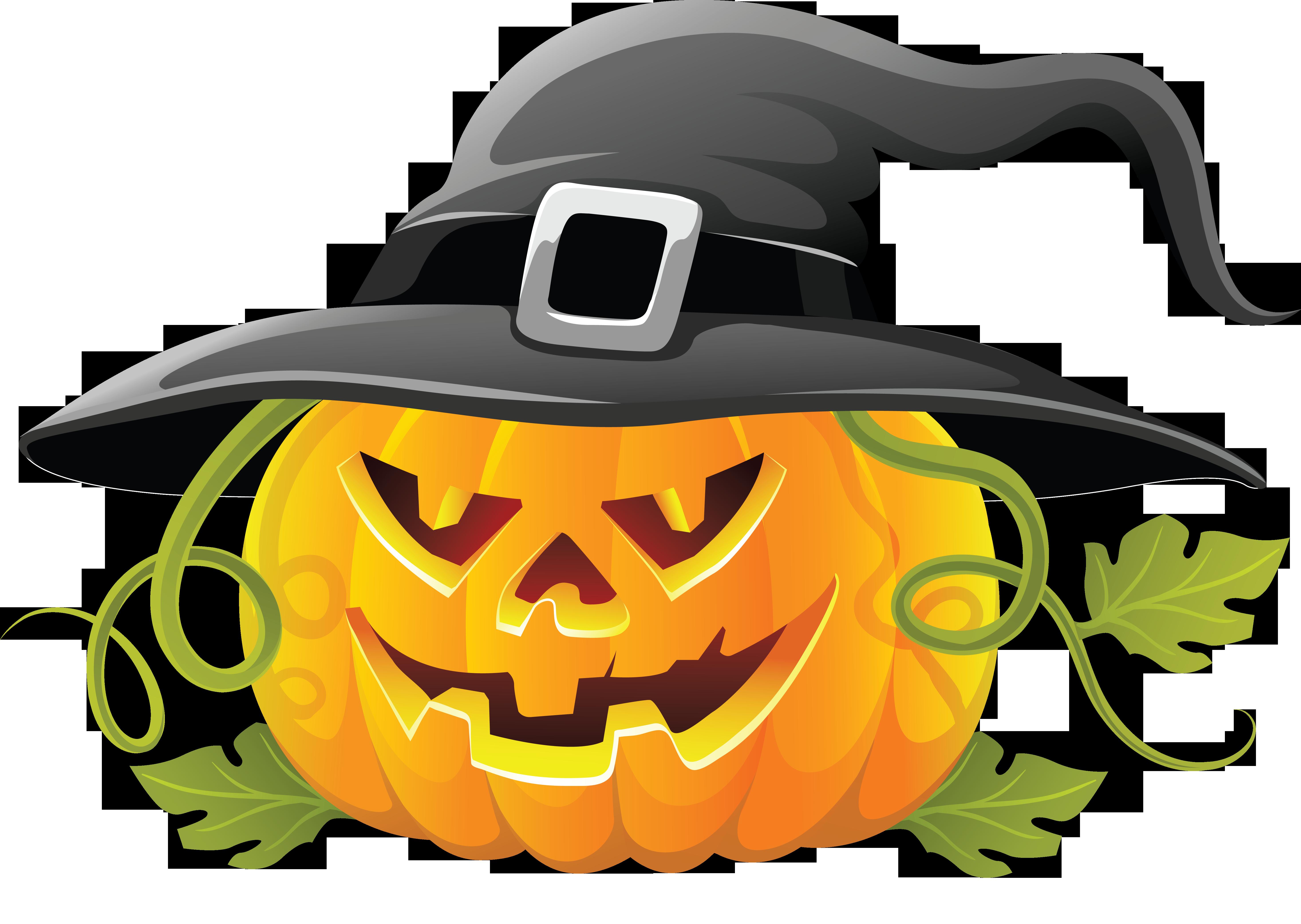 5863x4163 Halloween Jack O' Lantern Png Clipart