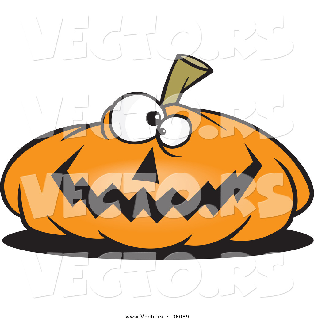 1024x1044 Halloween Vector Of A Cartoon Jackolantern Pumpkin Smiling