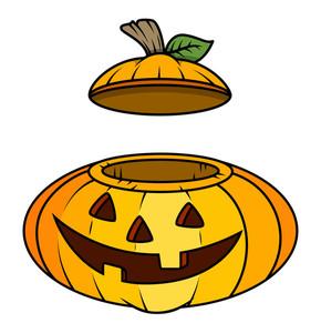 290x300 Jack O Lantern Wearing Witch Hat Illustration Royalty Free Stock